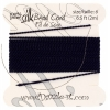 Dazzle-it 100% Silk Bead Cord with needle 2M #6(0.70mm) Navy